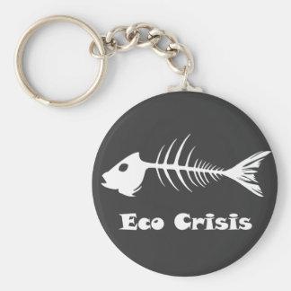 Fishbone Eco Crisis Dark Keychain