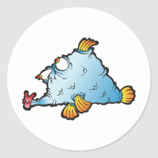 Fishee Fishee Round Stickers