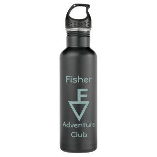 Fisher Adventure Club - Light Teal Logo 710 Ml Water Bottle