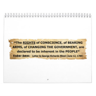 Fisher Ames Quote Rights of the People Wall Calendars
