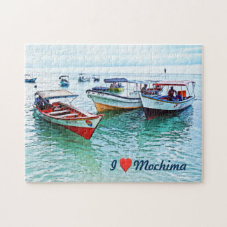 Fisher boats in National Park of Mochima Jigsaw Puzzle
