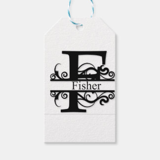 Fisher Monogram Gift Tags