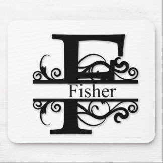 Fisher Monogram Mouse Pad