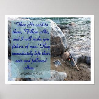 Fisher of Men (Mat 4:19-20) Poster