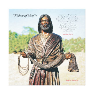 """Fisher of Men""® Sculpture Canvas Print"