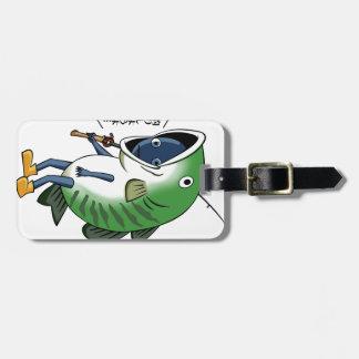 Fisherman 2 English story Kinugawa Tochigi Luggage Tag