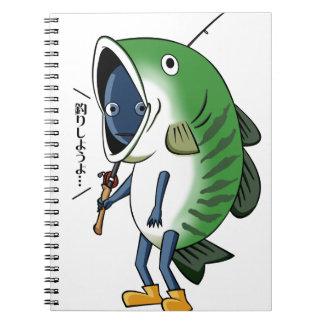 Fisherman 2 English story Kinugawa Tochigi Notebook