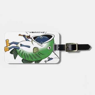 Fisherman 3 English story Kinugawa Tochigi Luggage Tag