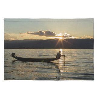 Fisherman At Sunset Placemat