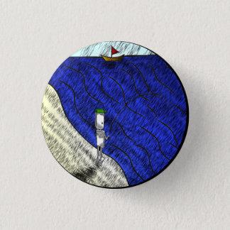 Fisherman Badge 1 Inch Round Button