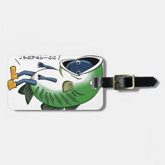Fisherman English story Kinugawa Tochigi Luggage Tag