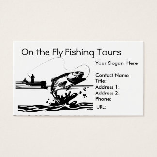 Fisherman Fishing on Lake Business Card Template
