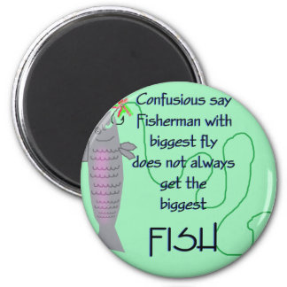 Fisherman Fly Joke Magnet