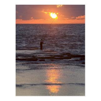 Fisherman in Byblos at sunset, Lebanon Postcard