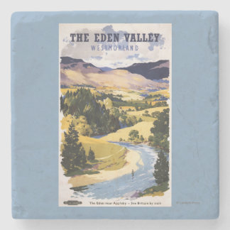 Fisherman in the Eden Valley Stone Coaster