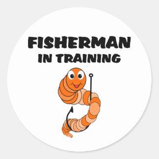 Fisherman In Training Classic Round Sticker