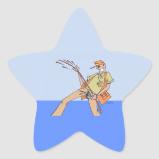 Fisherman Inside star stickers