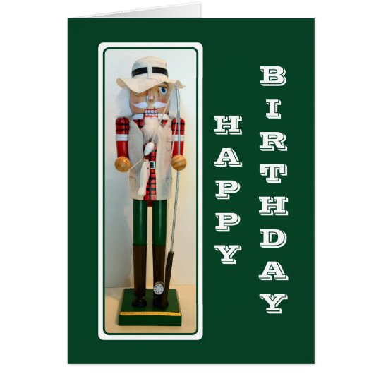 Fisherman Nutcracker Happy Birthday Card