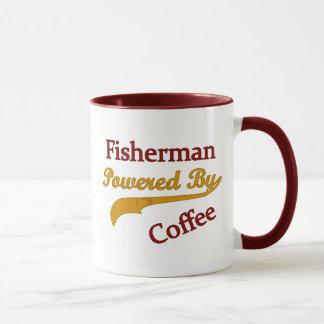 Fisherman Powered By Coffee Mug