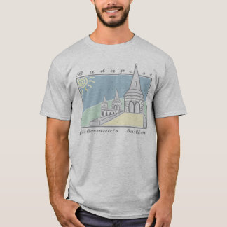 Fisherman´s Bastion - Budapest - Hungary - gray T-Shirt