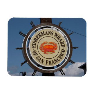 Fisherman s Wharf Sign Rectangular Magnets