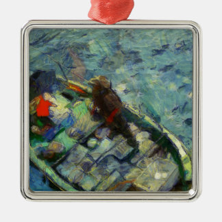 fisherman_saikung Hong Kong Metal Ornament