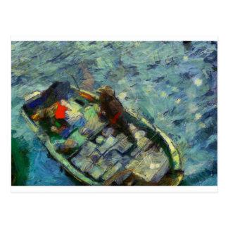 fisherman_saikung Hong Kong Postcard