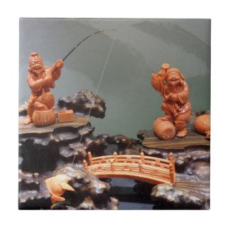 "Fisherman Small (4.25"" x 4.25"") Ceramic Photo Tile"