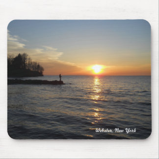 Fisherman & Sunset Mouse Pad