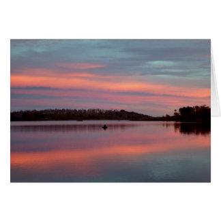 Fisherman Sunset Sky Kolob Blank Greeting Card