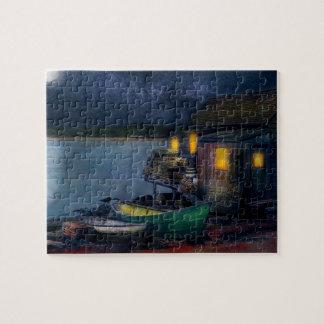 Fisherman - The Fisherman's Cabin 1915 Jigsaw Puzzle