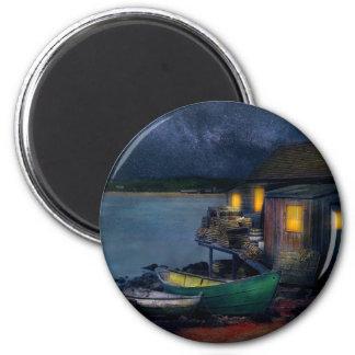 Fisherman - The Fisherman's Cabin 1915 Magnet