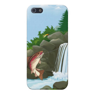 Fisherman Waterfall Trout Fly Fishing iPhone 5/5S Case