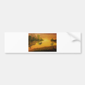 """Fisherman's Alley"" by Jack Lepper Car Bumper Sticker"
