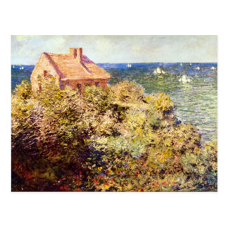 Fisherman's Cottage on a Cliff by Claude Monet Postcard