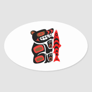 Fisherman's Prized Catch Oval Sticker