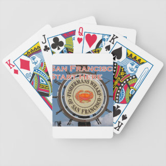 Fishermans Wharf San Francisco California USA CA Bicycle Playing Cards