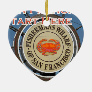 Fishermans Wharf San Francisco California USA CA Ceramic Ornament