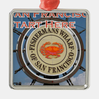 Fishermans Wharf San Francisco California USA CA Metal Ornament