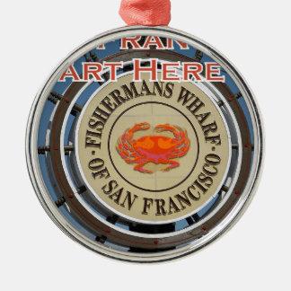Fishermans Wharf San Francisco California USA CA Metal Ornament