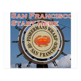 Fishermans Wharf San Francisco California USA CA Postcard