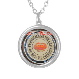 Fishermans Wharf San Francisco California USA CA Silver Plated Necklace