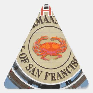Fishermans Wharf San Francisco California USA CA Triangle Sticker