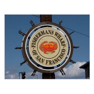 Fisherman's Wharf Sign Postcard