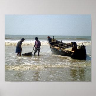 Fishermen at Sea Poster