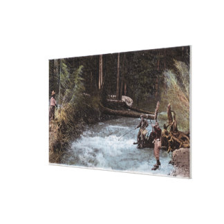 Fishermen Fishing at Commonwealth Creek Canvas Print