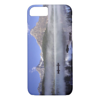 Fishermen in canoe on Waterfowl Lake, Banff iPhone 7 Case