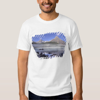Fishermen in canoe on Waterfowl Lake, Banff Shirts