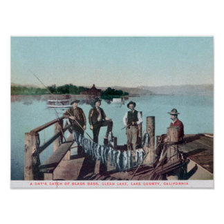 Fishermen Showing the Day's Catch Poster