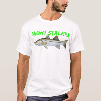 fishermen snook fishing  night stalker t shirt. T-Shirt